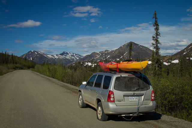 Flat tire on the Dempster Highway, Yukon, Canon 7D with Canon EF 28-300mm @ 28mm, 1/60s @ f/16, ISO 100