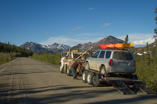 Doug to the rescue on the Dempster Highway, Yukon, Canon 7D with Canon EF 28-300mm @ 28mm, 1/100s @ f/16, ISO 100