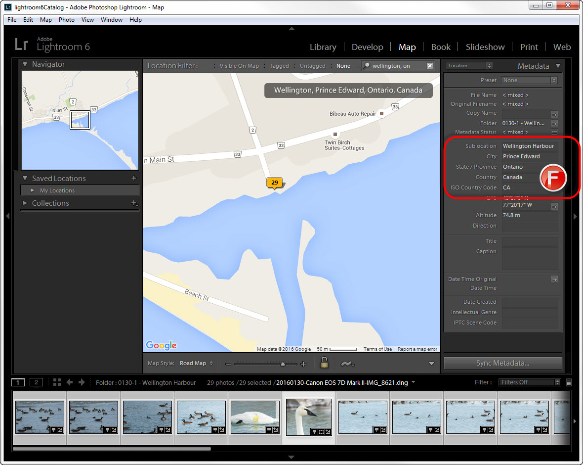 GEOTAGGING IN LIGHTROOM: ConfirmED LOCATION METADATA