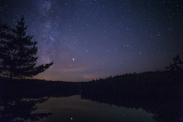 Milky Way over Norway Lake, Algonquin Provincial Park, Ontario, Canada