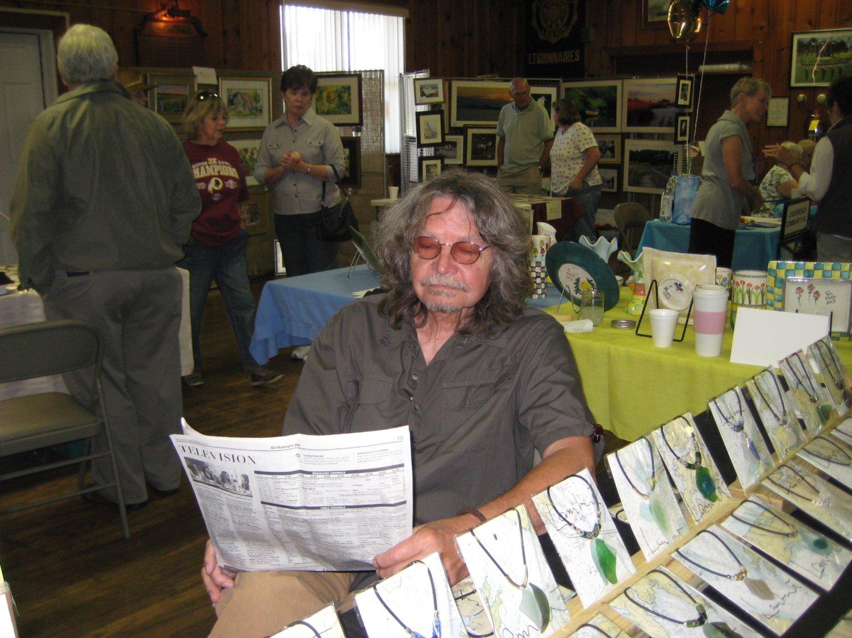 Phil Lambert and his Sea Glass Jewelry.