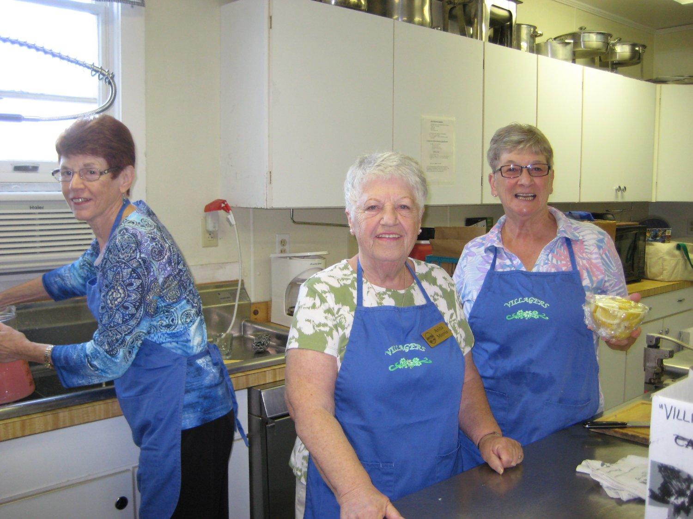 "Some of the ""Kitchen Crew"" - Bea Trotta, Anita Morris, and Nancie Cameron."