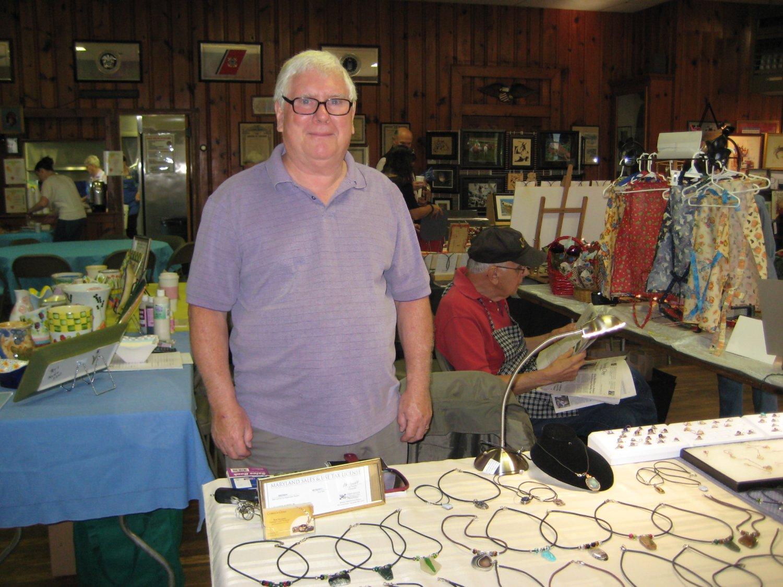 Robert Shaffer exhibited his handcut gemstone jewelry.