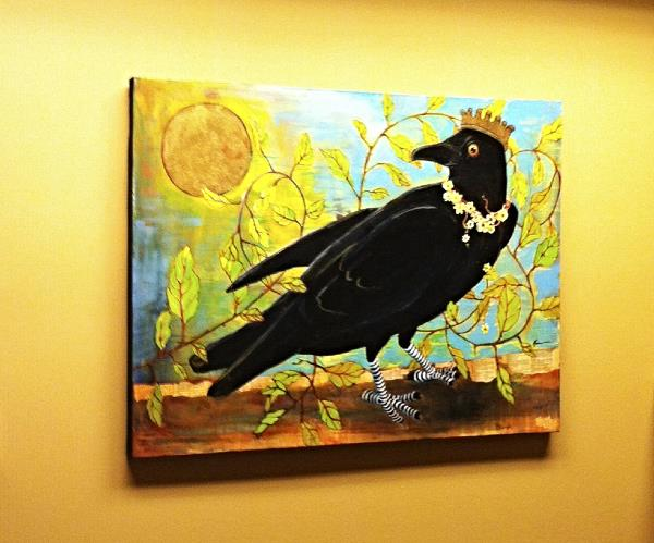 """""""King Crow"""" hanging on the wall at Moonstruck headquarters"""