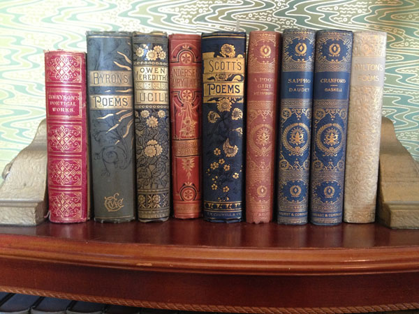 Books in the library room