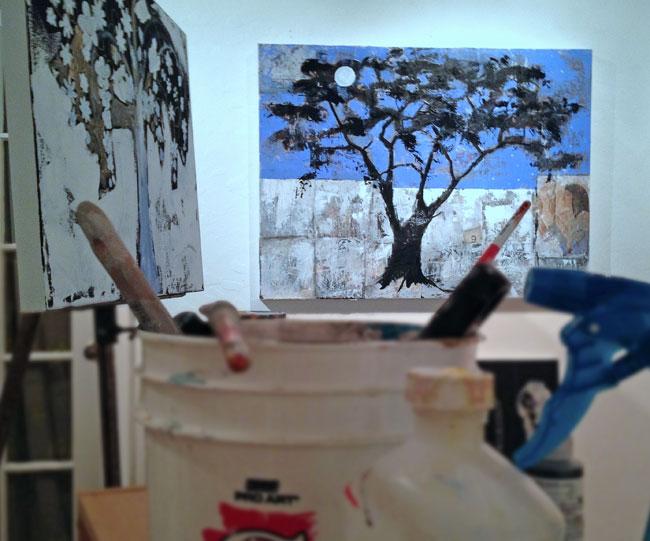 Inside Blenda Tyvoll Studio.
