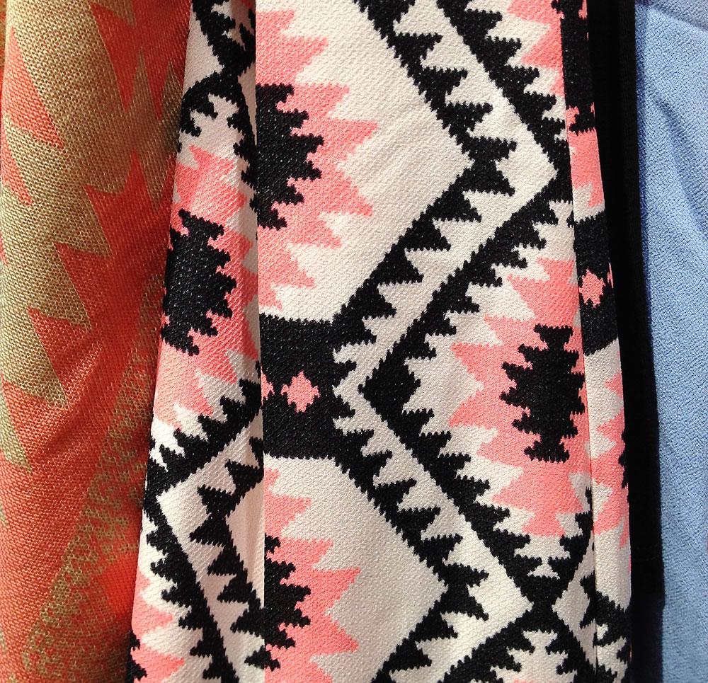 Design patterns of pink and black
