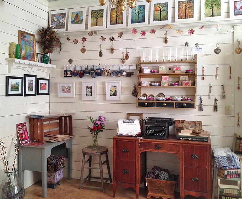 Inside Blenda's studio