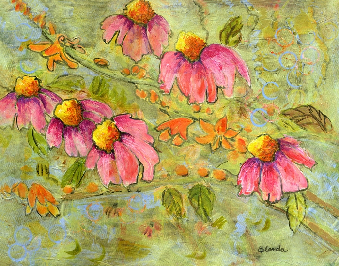 Coneflowers For Marian by Blenda Tyvoll