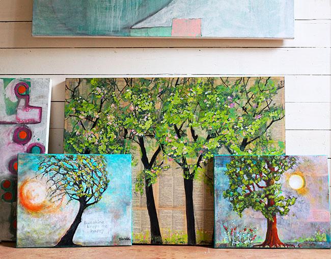 Tree Paintings by Blenda Tyvoll