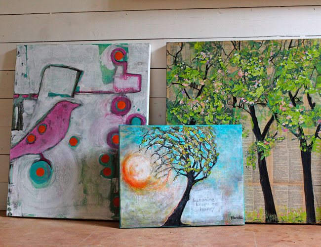 Collection of Tree Paintings by Blenda Tyvoll