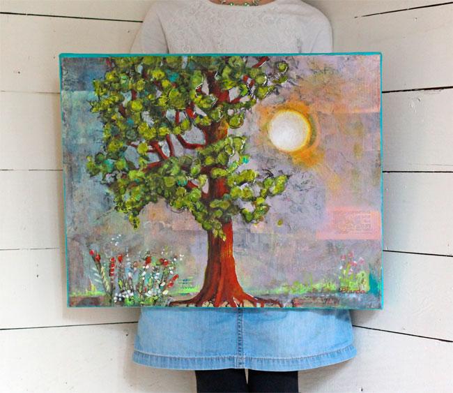 Morning Has Broken 16x20 mixed media on Canvas