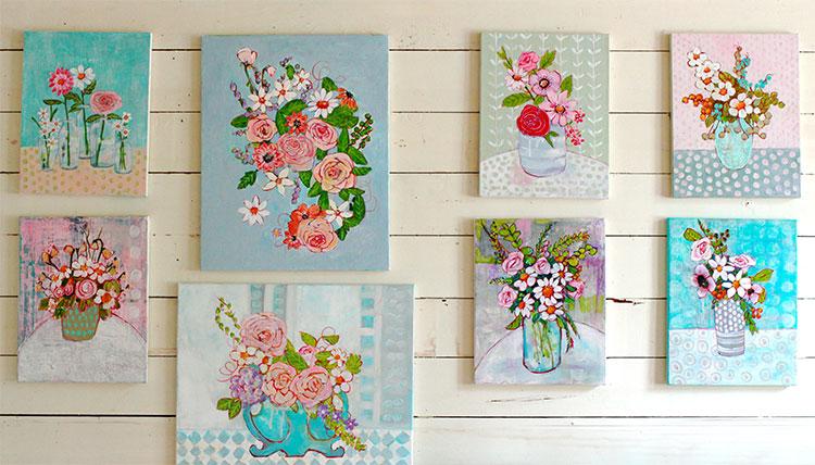 flower paintings by Blenda Tyvoll