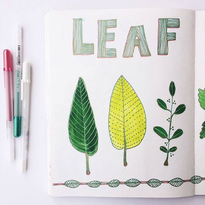 """On side of the """"Leaf Study"""" sketch available  here"""