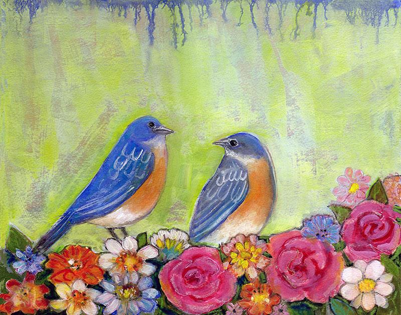 Bluebird Pair by Blenda Tyvoll