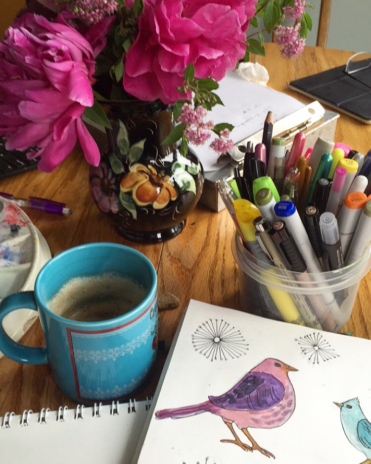 Morning sketches with coffee