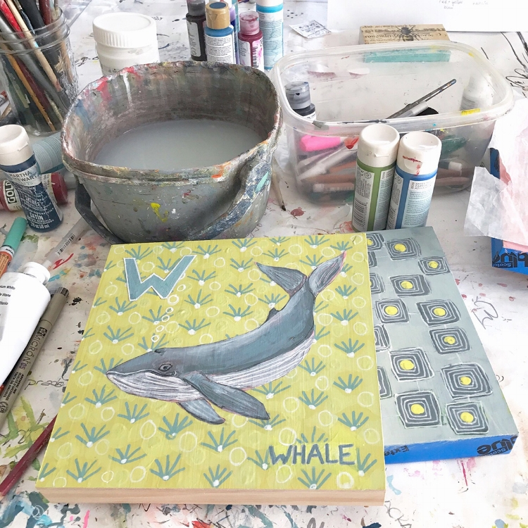 W is for Whale by Blenda Tyvoll