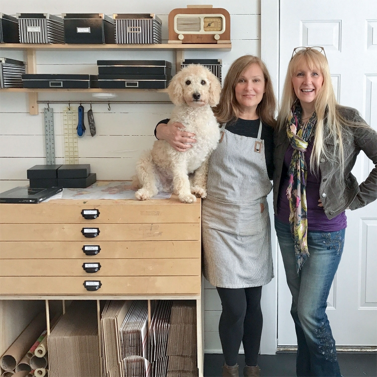 Krista Cary, Georgie and I want to welcome you to our open studio in October.