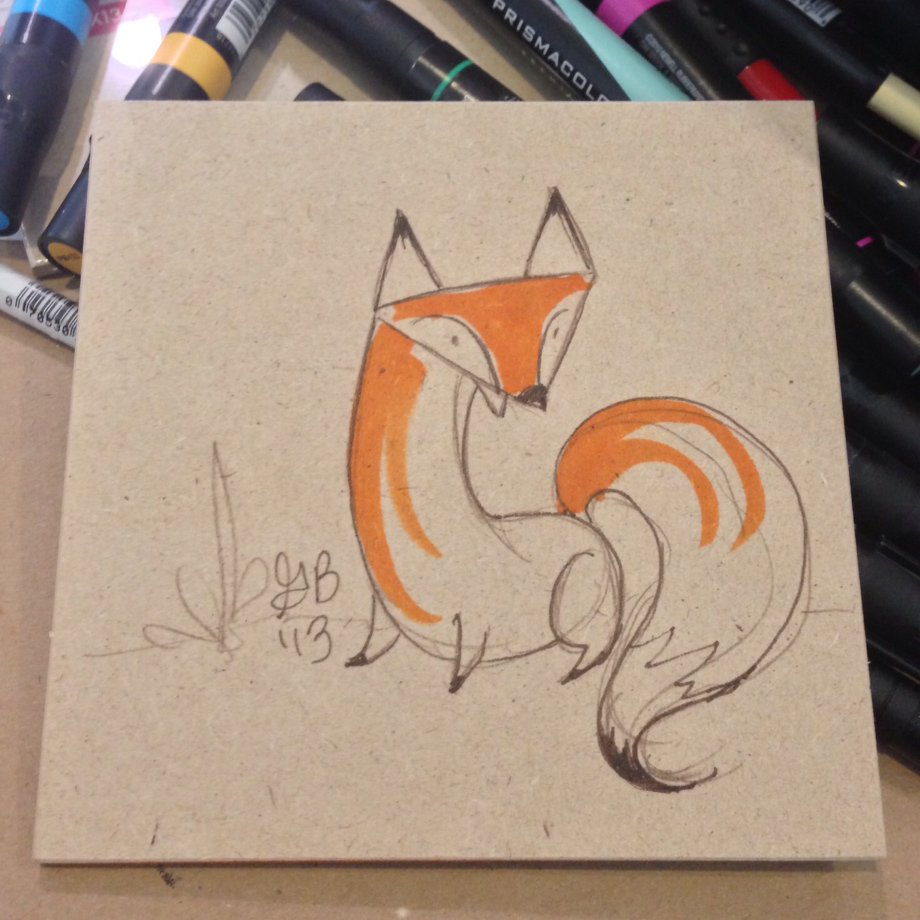 fox that went to a new home.