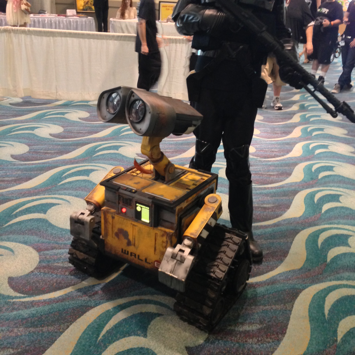 A life-sized, working, robotic Wall-e. Definitely my favorite character of the day, although there were some great costumes there.