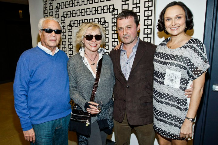 Marsha Owett with John Reinhold, Debbie Harry and Scott Kilgour