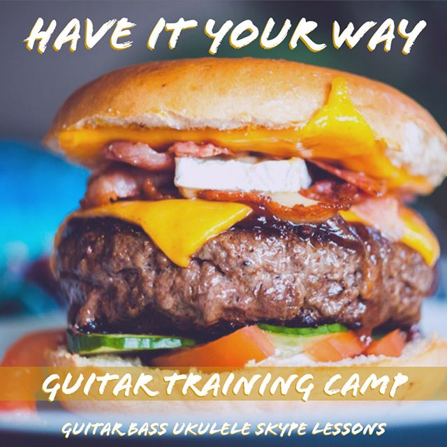 I'm looking for some summer future rock stars. Got nothing to do this summer but sit around and eat cheeseburgers? Why not take some lessons from your own home? We offer guitar, bass, and ukulele lessons via Skype. Your first lesson is free when you sign up. For more info please go to www.GuitarTrainingCamp.com. The link in my profile will take you to my website.