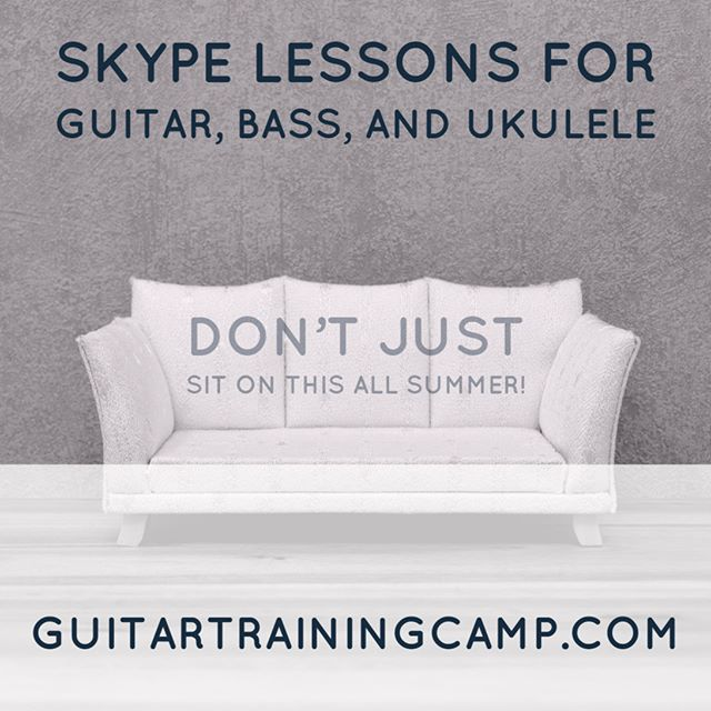Your first lesson is free. Let me know if you're interested in some Skype lessons. You could even take lessons from your couch. www.GuitarTrainingCamp.com. The link to the website and other links are in the link in my profile. #student #studentlife #homeschool #homeschoolmom #homeschoolers #kids #summer #lessons #guitarlessons #basslessons #ukulelelessons #bassguitar #ukulele #guitarist #guitarristas #guitars #guitarplayer #guitarstagram #guitarworld #guitarplayers