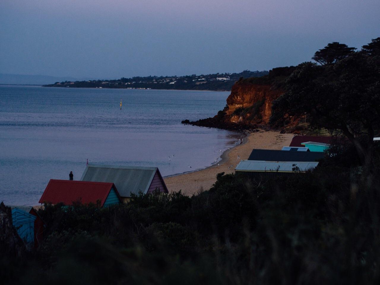 Twilight walk towards the town