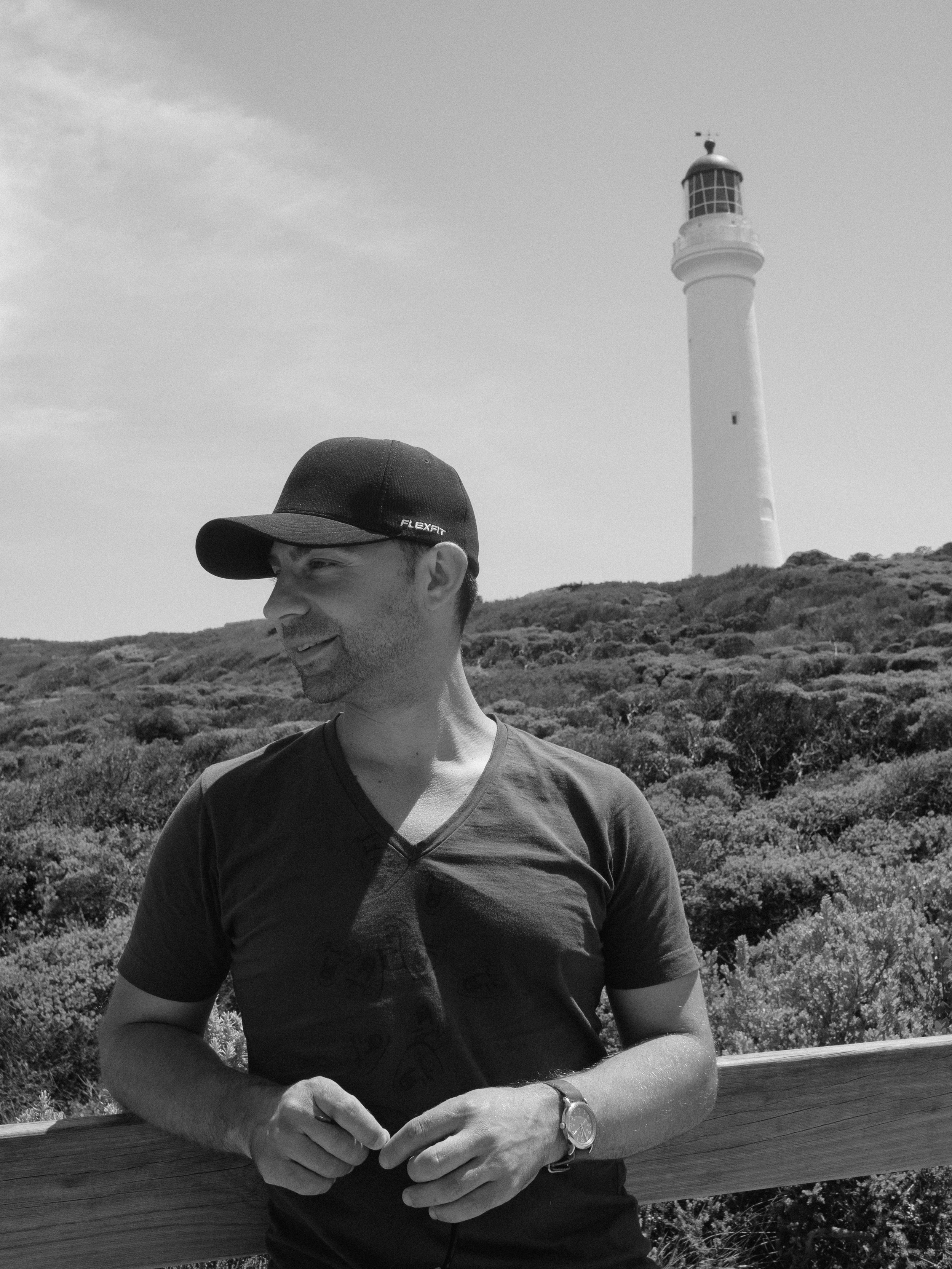 Me at the Split Point Lighthouse in Aireys Inlet