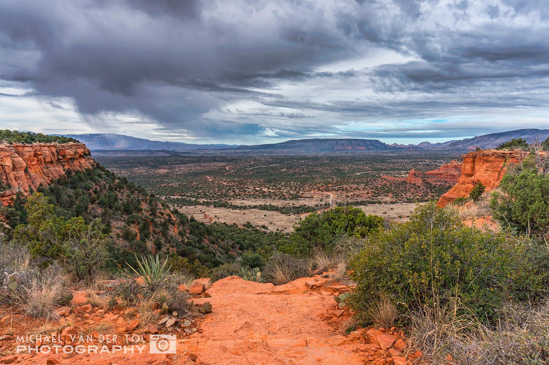 The view from the top of Doe Mountain, Sedona, Arizona, 2016