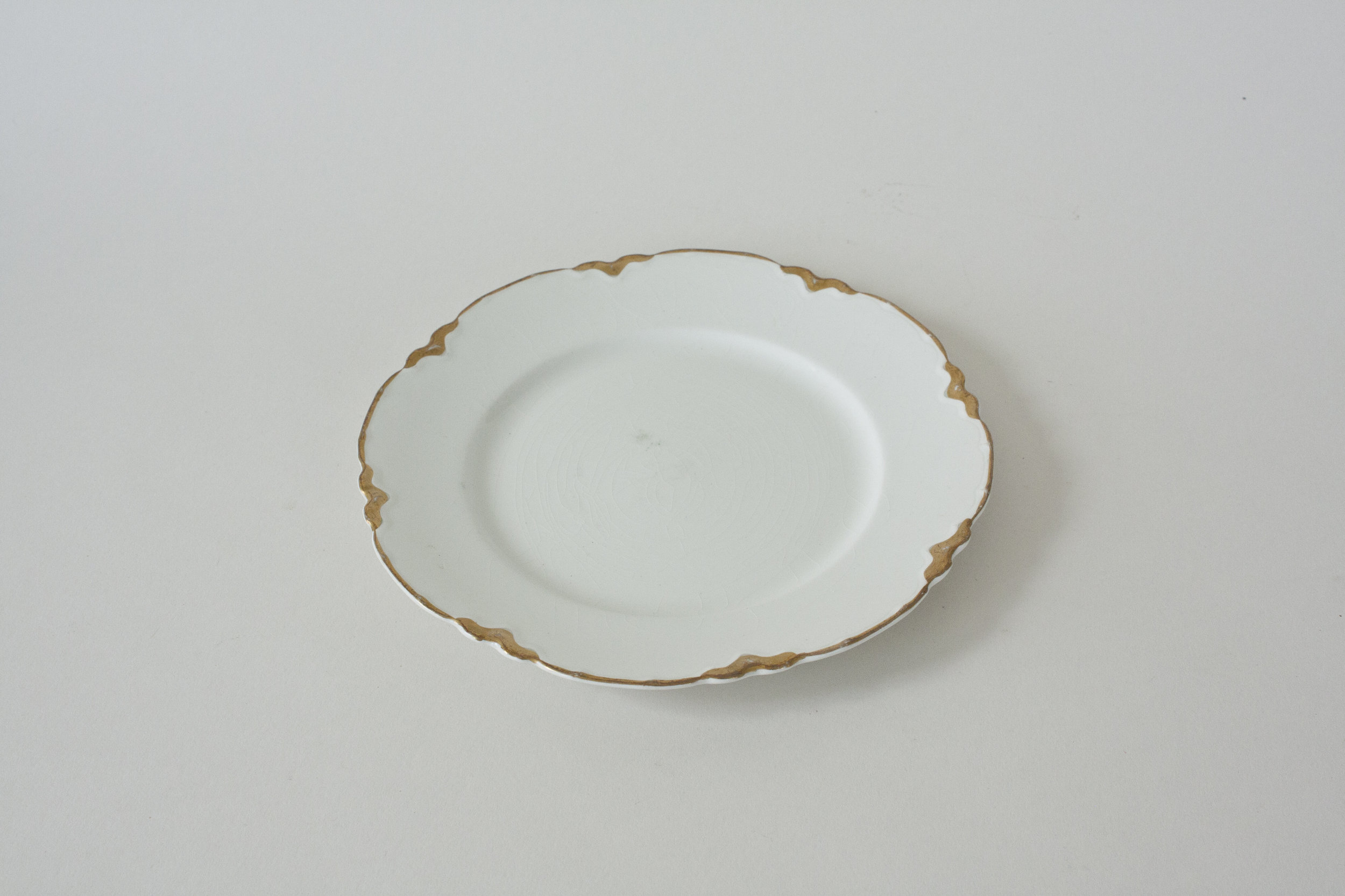 """247. gold rimmed plate 