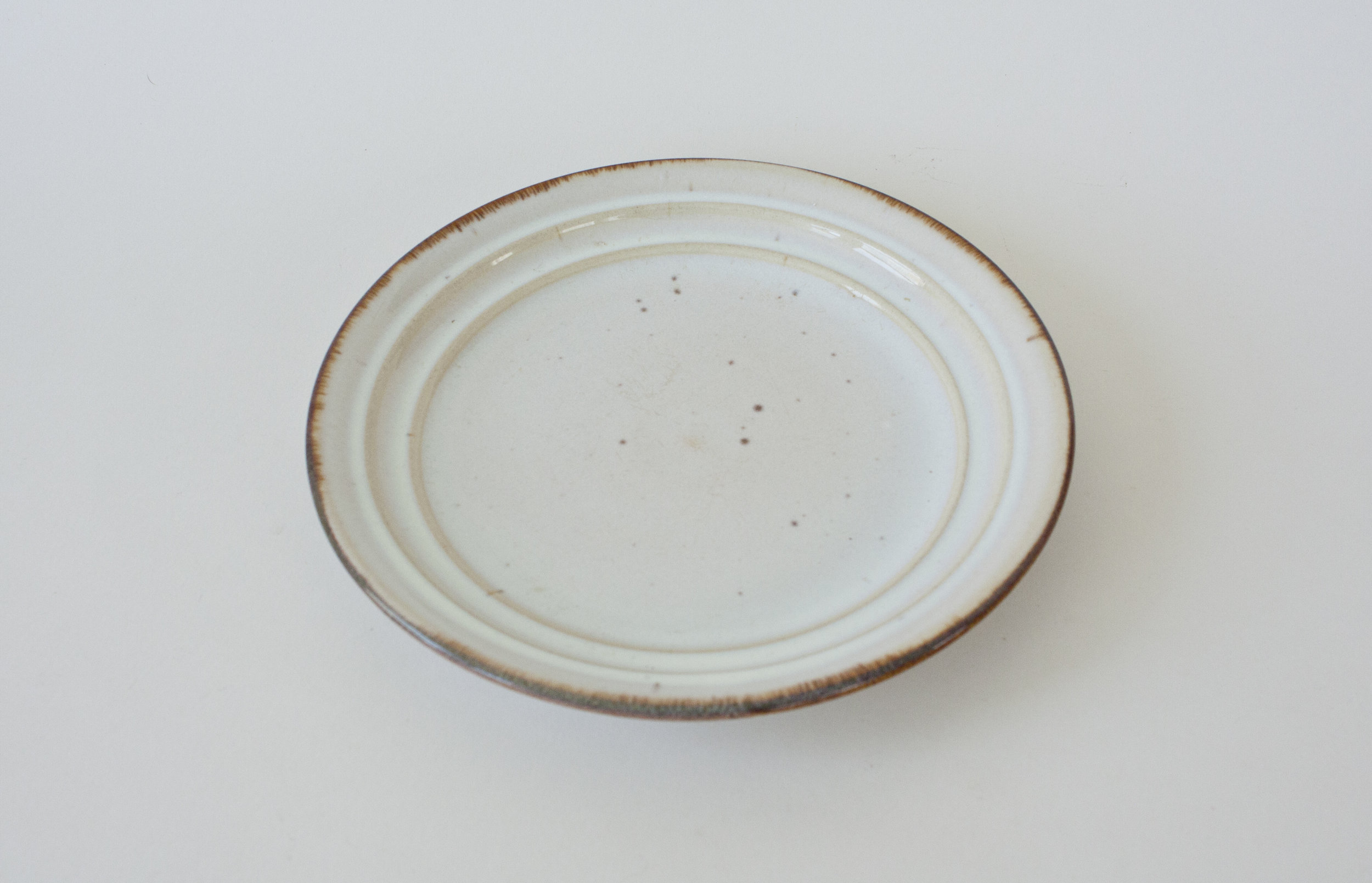 "252. speckled ceramic plate | 7.75"""