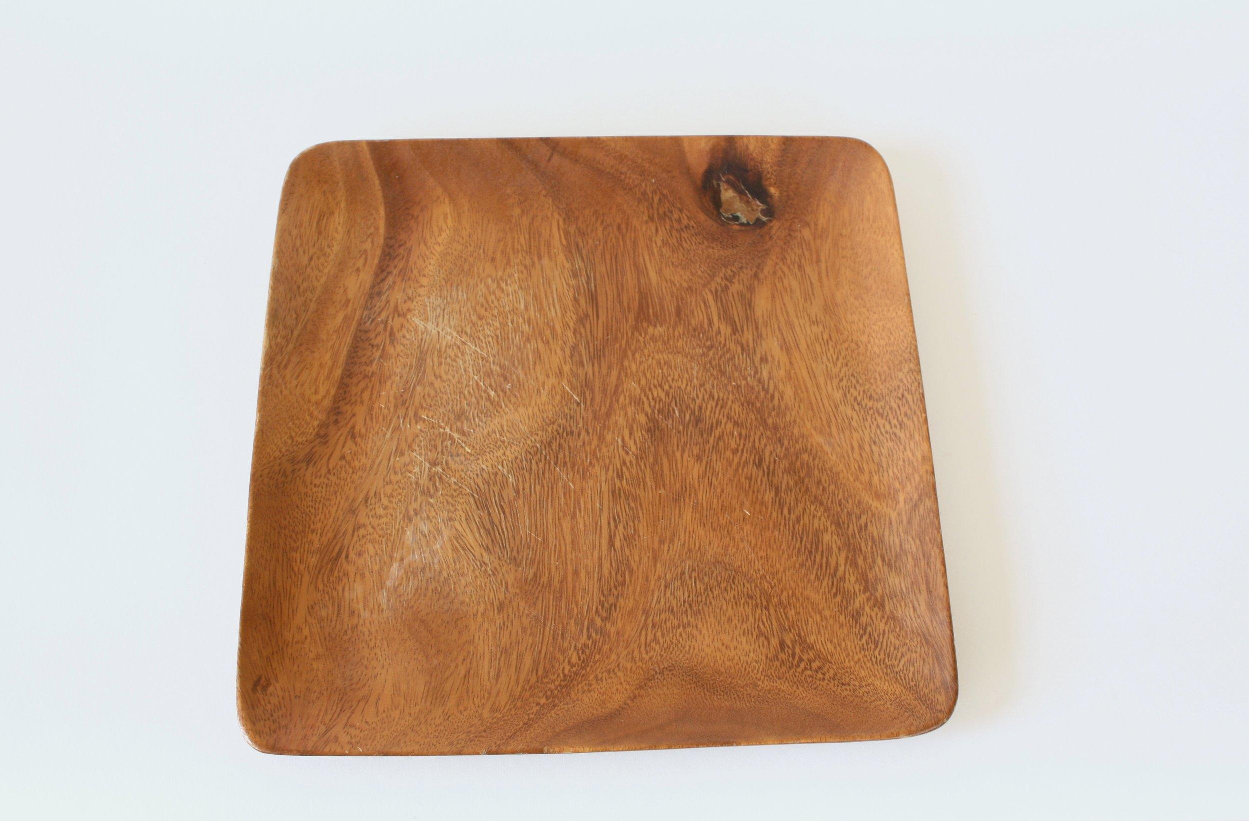 "234-2. wood plate | 11"""