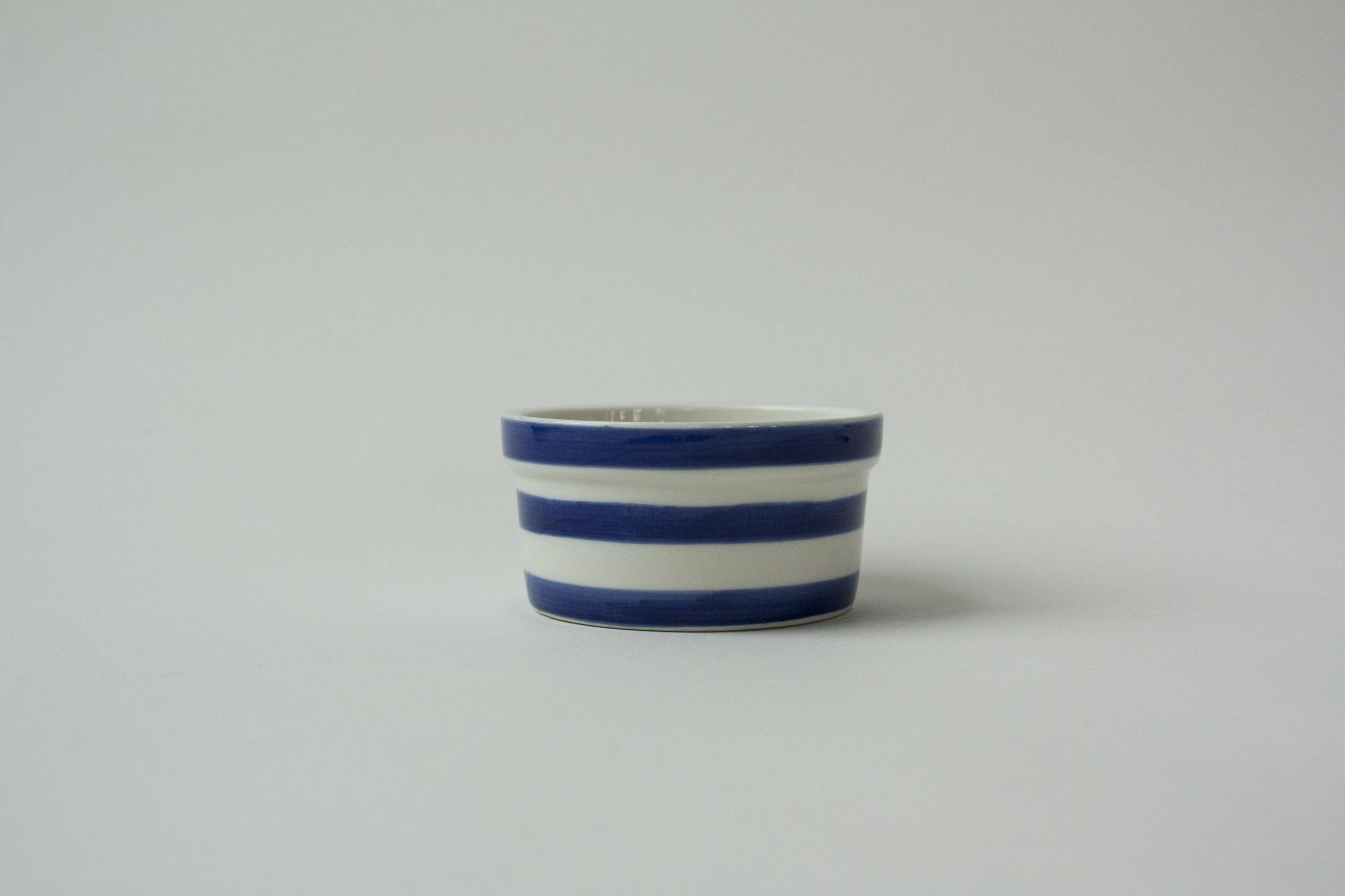 "735. striped crock | 3.5"" x 1.75"""