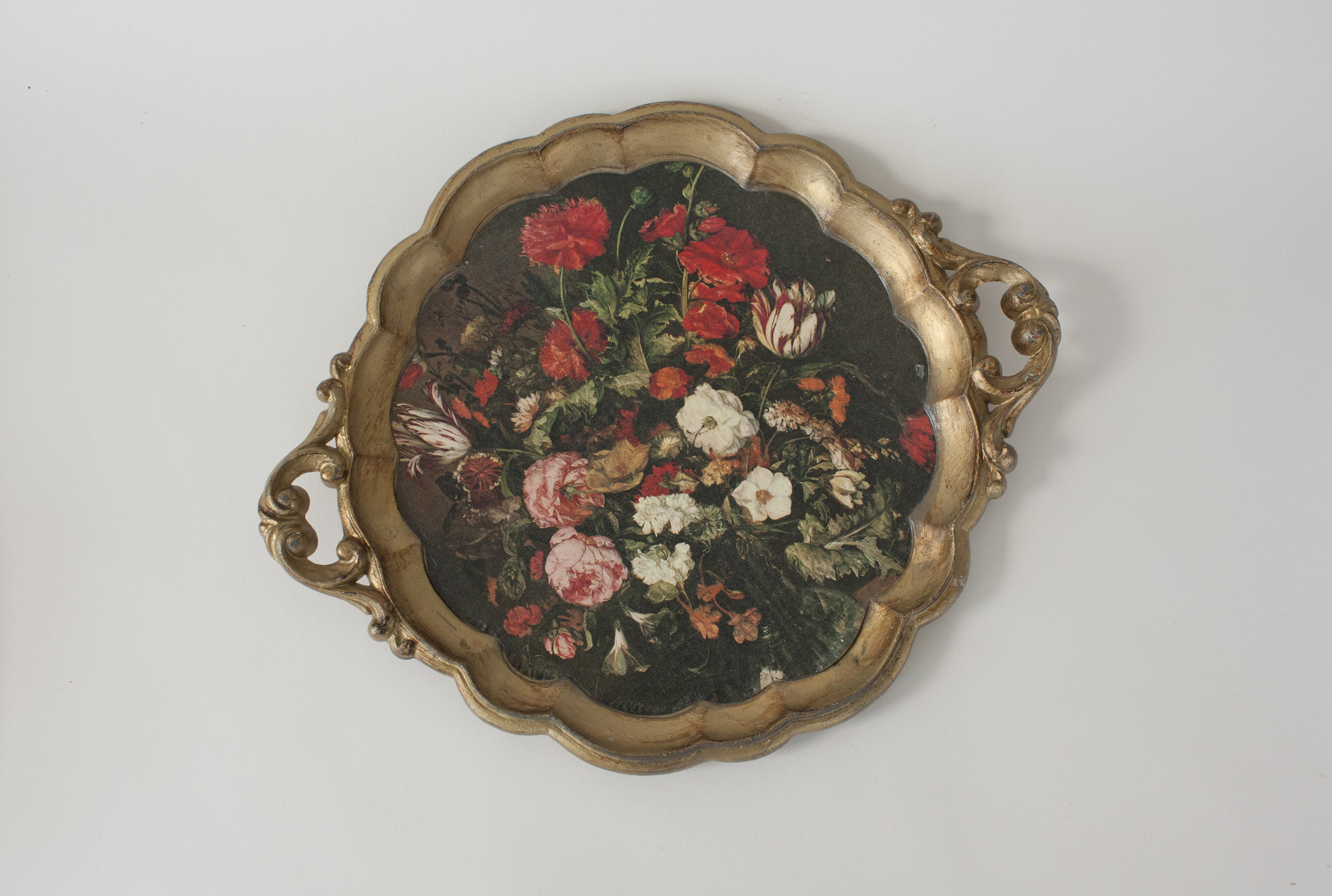 """floral tray 