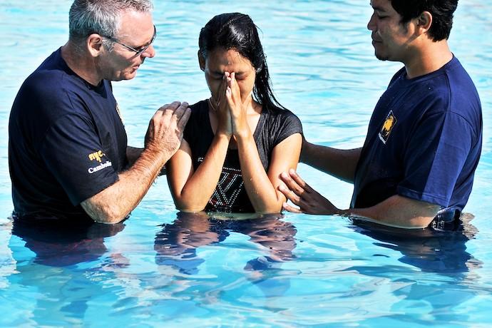One of three Sak Saum women who were baptized that day
