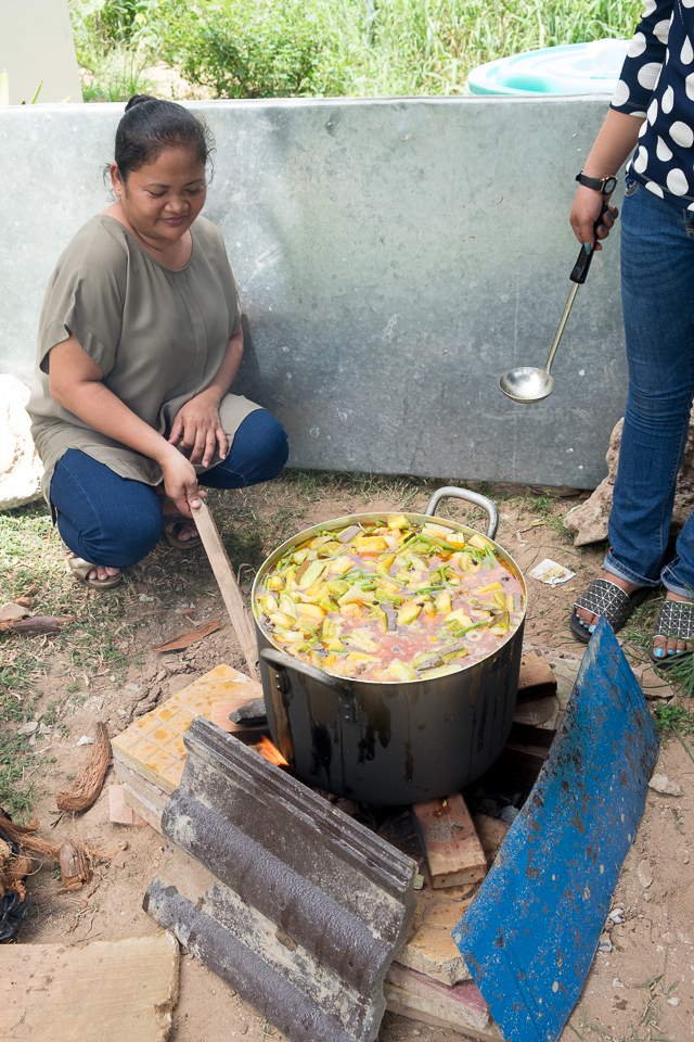 Cambodian curry for the main meal at the love feast.