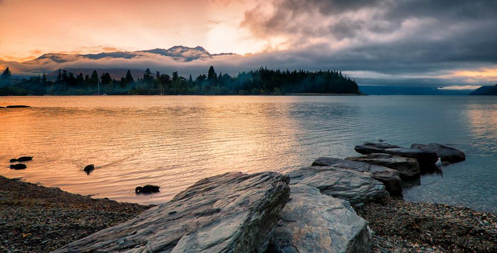 Morning Light Across a New Zealand Lake