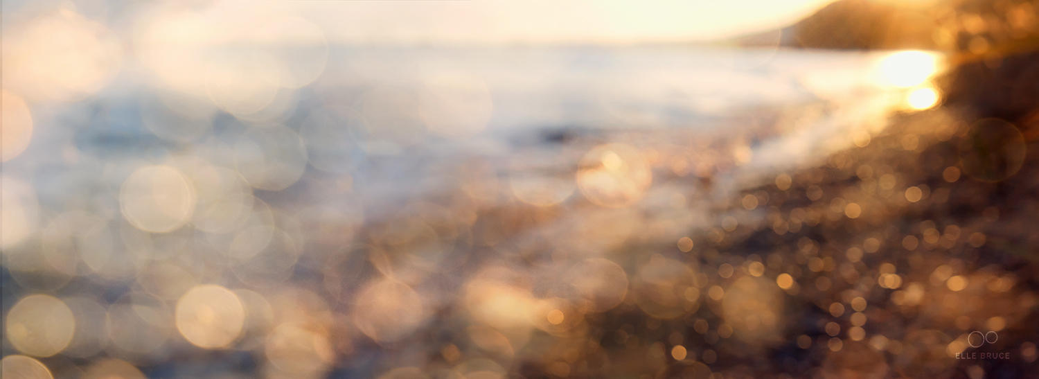 AWAKENING ©Elle Bruce  My own experiments with creating abstract landscape images have certainly been inspired by my love of the sparkling waterscape paintings by Canadian artist  Lisa Free .