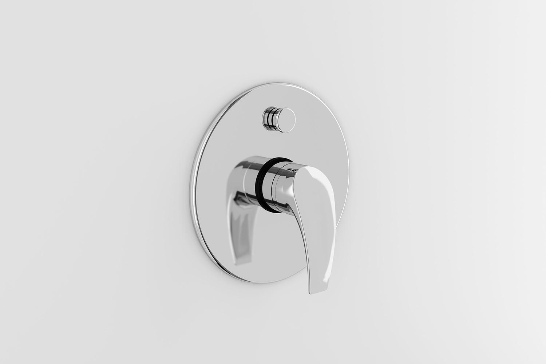 YAZ® Single-lever bath/shower mixer trim
