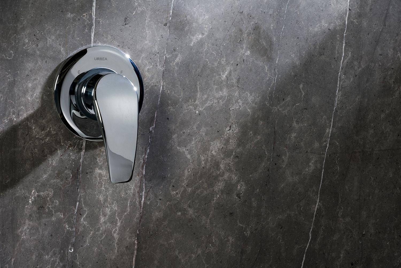 YAZ® Single-lever bath/shower mixer trim — Courtesy of URREA