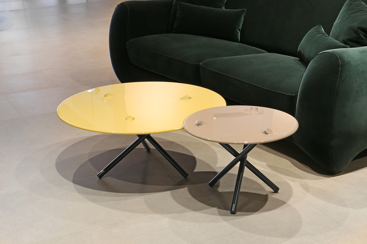 PUSH coffee and side table.