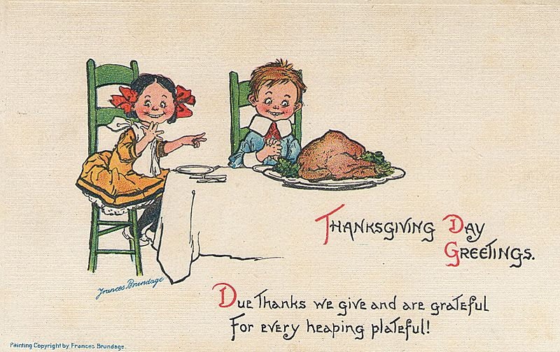 Frances Brundage Thanksgiving. Source: Wikimedia Commons