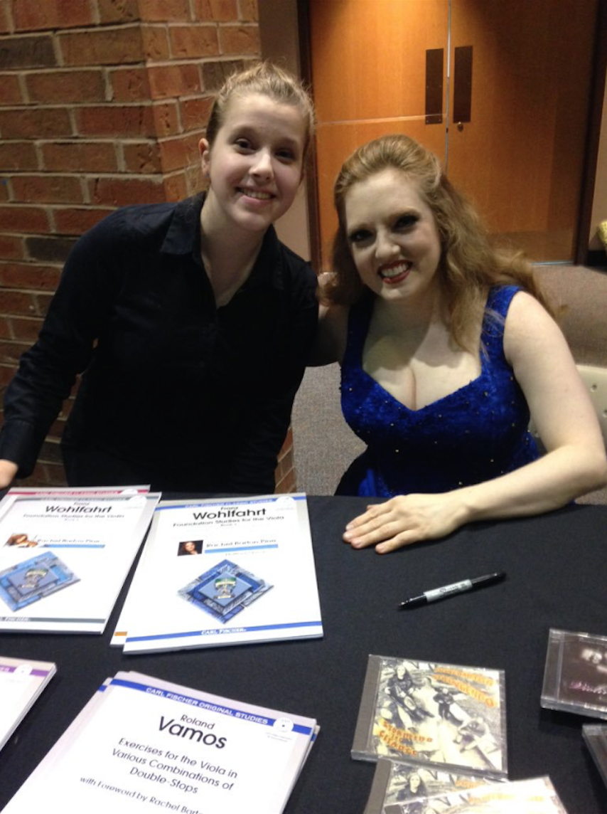 Stella post Sibelius with Rachel Barton Pine, November 2015