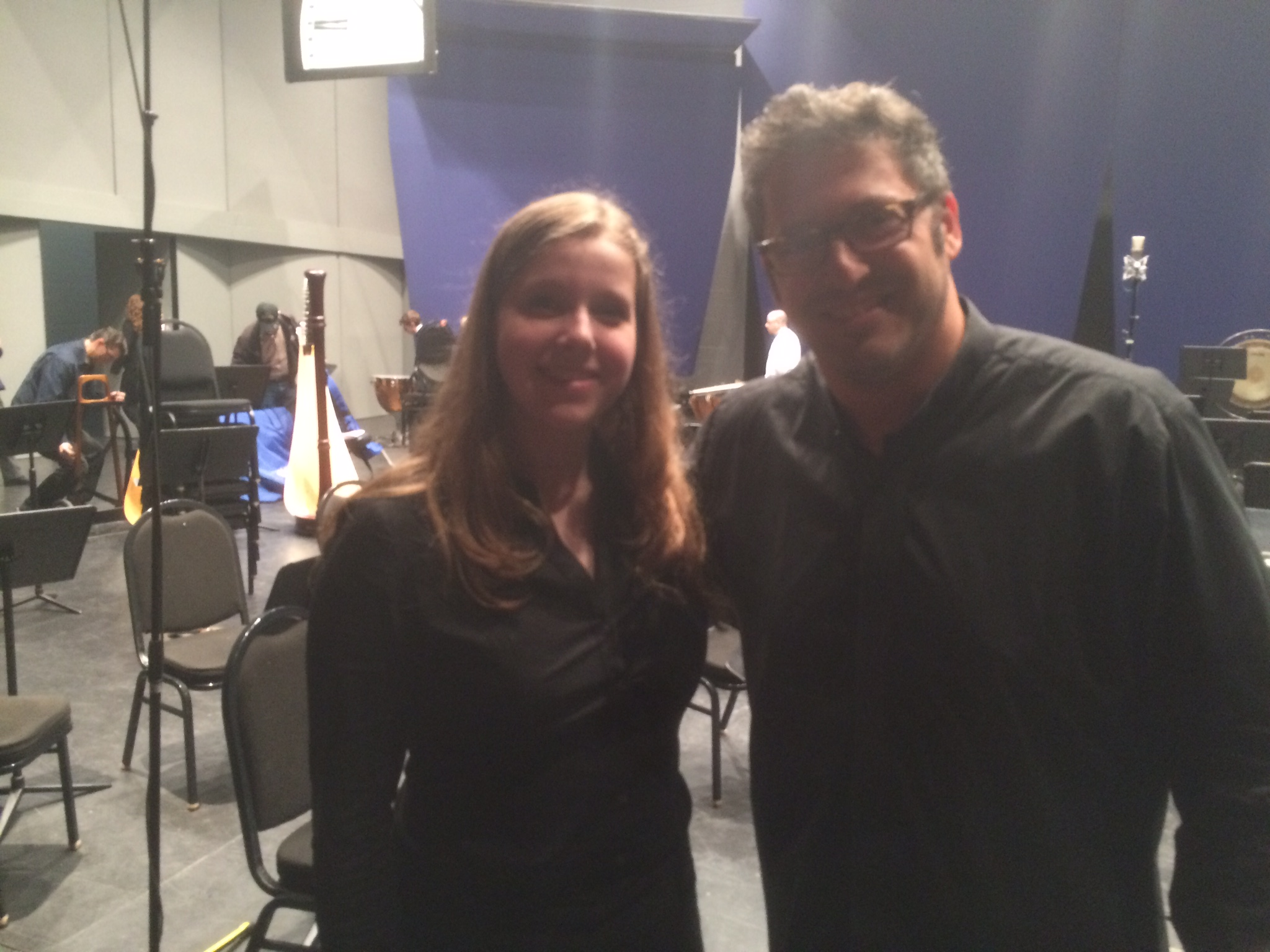 Stella (Concertmaster) with Maestro Daniel Boico after playing Mahler 1 with EYSO Youth Symphony