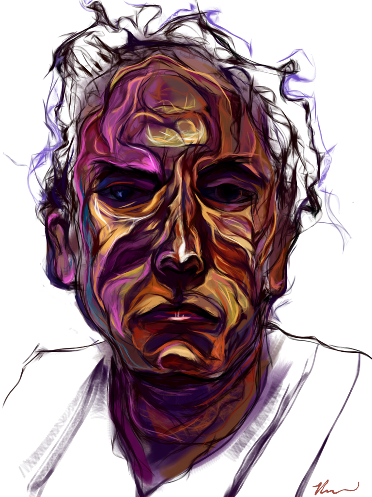 Self portrait on bad hair day