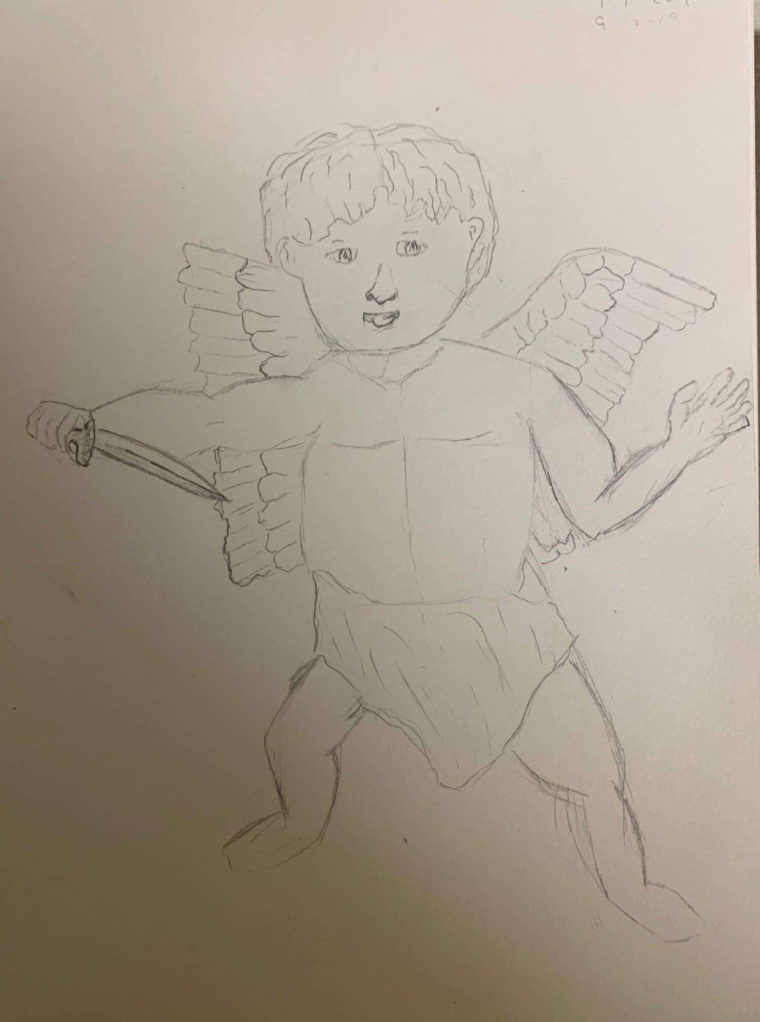 Cupid, ready to shove that knife in your back.