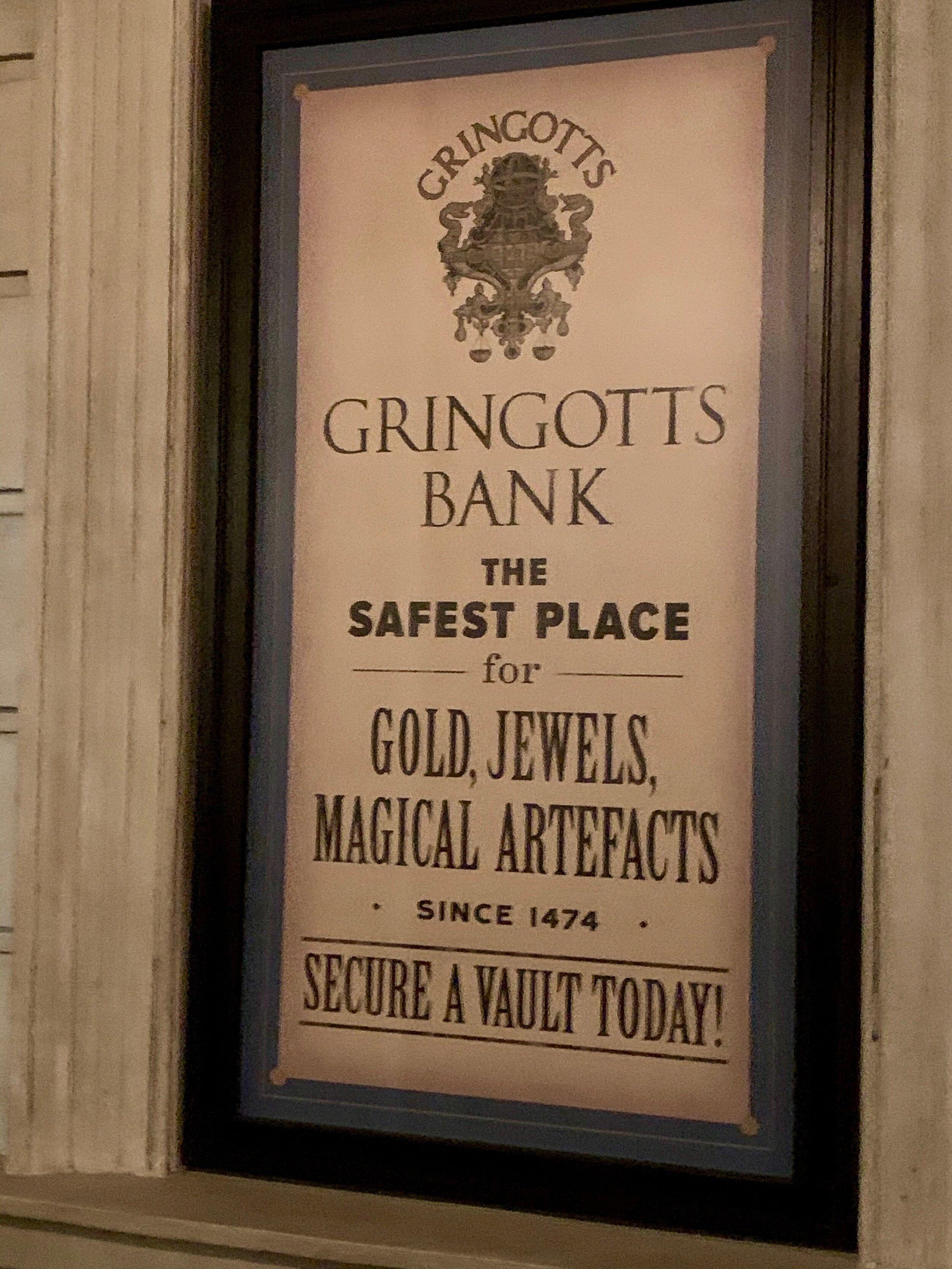 Gringott's advertisement