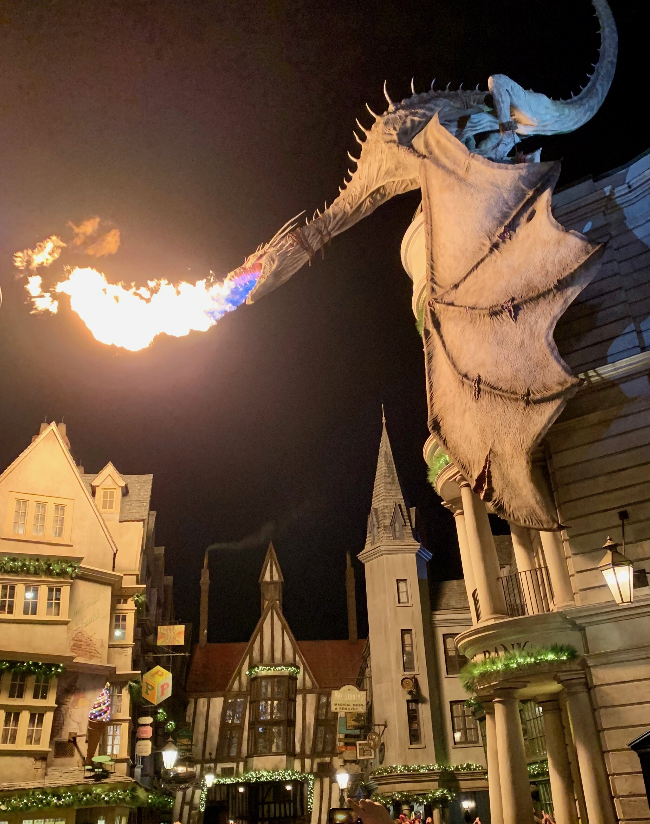 The dragon breathes fire approximately every 15 minutes