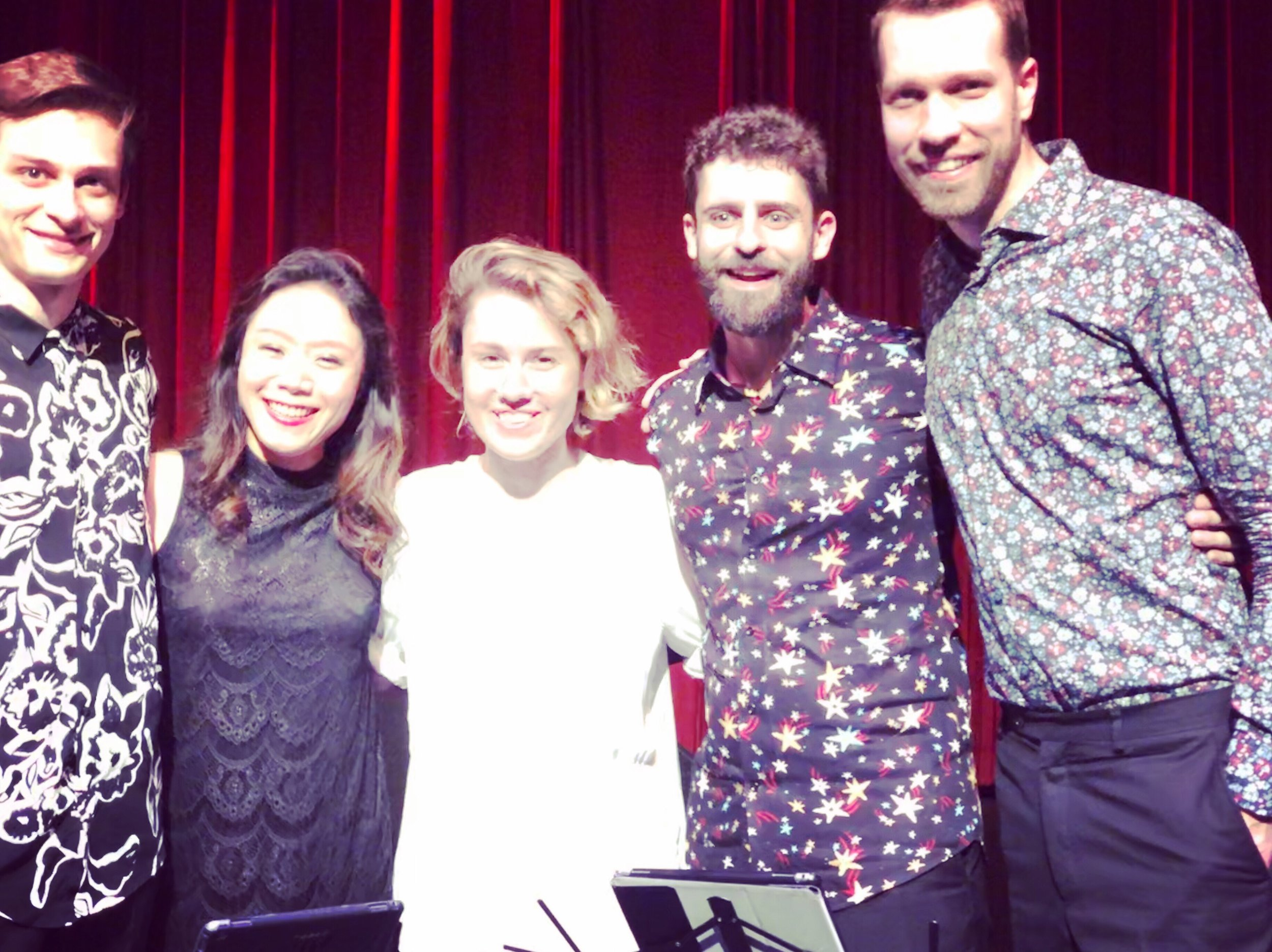 It was a complete coincidence that Caroline Shaw was also in Vancouver when we played two of her quartets at Music on Main!